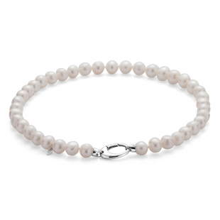 Fresh water white pearls necklace 11-12mm R1010NWSwan