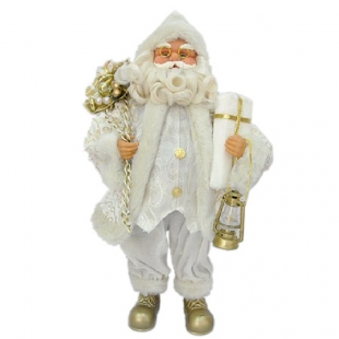 Christmas figure of Santa Claus big white color Dims