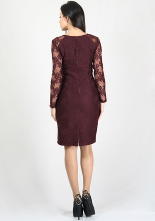 Marsala elegant lace dress RUMENA