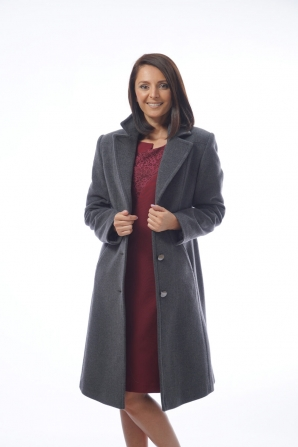 Elegant women's jacket with a decorative seam in gray Radeks