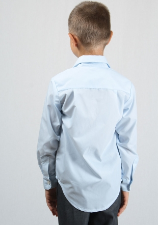 Elegant Light Blue Cotton Boys Shirt RUMENA