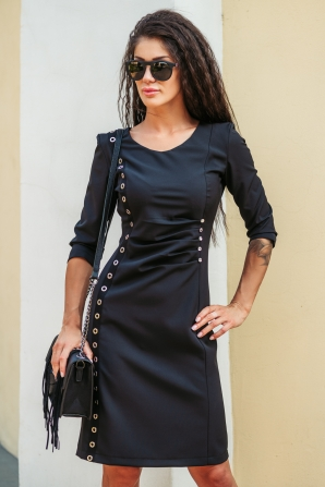 Black dress with cap edging Avangard
