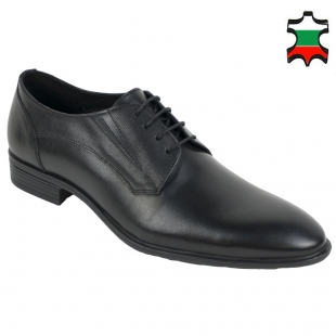 Men's evening shoes black with ties