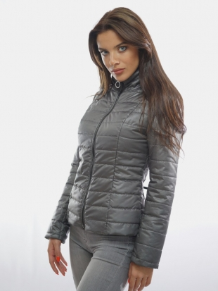 Ladies sport-elegant jacket in gray 11901 / P4