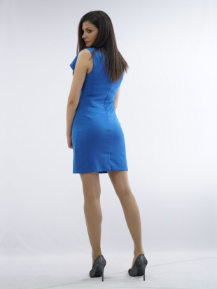 Women's stylish dress in royal blue 71946-408