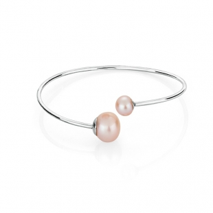 Stainless steel bracelate with pink pearls BR01BR Swan