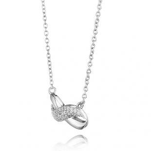 Women's silver necklace in the shape of the infinity sign Swan JT030N