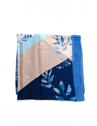 Women's scarf in blue and powder 1479