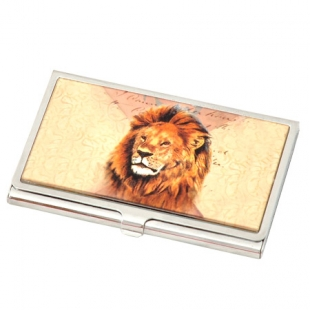 "Business Card Holder ""Lion"" New Wish"