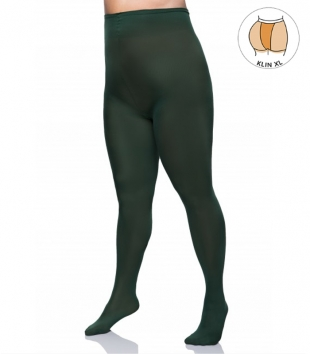 Plus size microfibre emerald tights 60 DEN with additional band LIDA