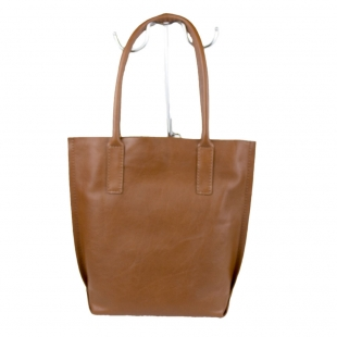 Women's brown leather bag 19269