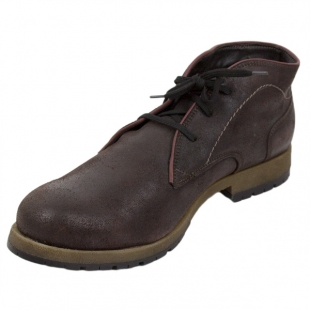 Men's burgundy leather boots with warm lining Josef Seibel 20569