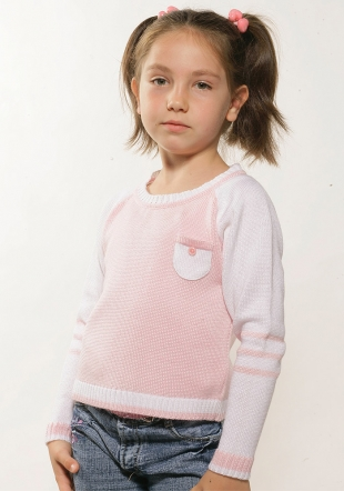 Children's sweater with decorative pocket Z-06/07