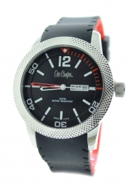 Lee Cooper LC-30G-D Men's black and red watch