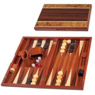 Playing set for backgammon walnut and mdf