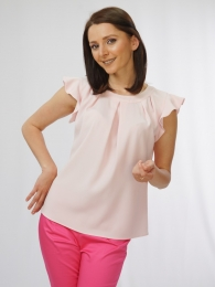 Women's blouse in powder color 81909-709