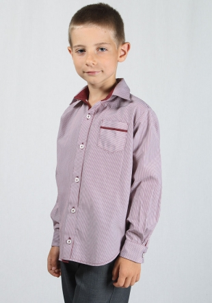 Bordeaux stripes boys shirt RUMENA