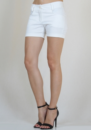 White short jeans with cuffs RUMENA
