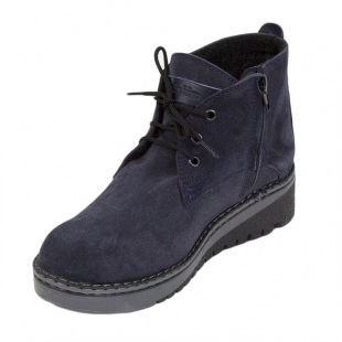 Women's blue suede leather clarks 20427