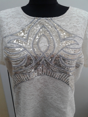 Ladies Blouse with front sequin Rumena