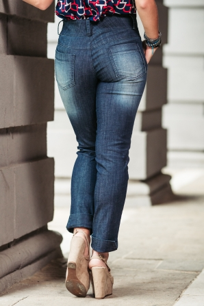 Women's jeans with cuff and front pockets Avangard