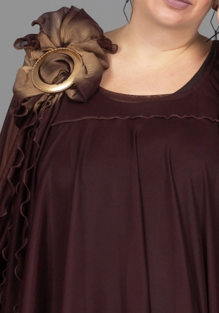 Asymmetric tunic in a burgundy with lining ILINA Fashion