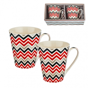 Set due cesti de cafea sau ceai cu decor New Wish
