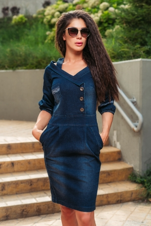 Denim dress with pockets Avangard