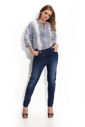 Denim pants with side pockets Avangard
