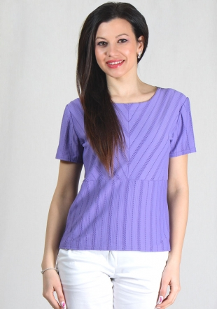 Ladies purple lace front top RUMENA