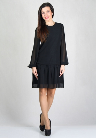 Evening chiffon flounce dress RUMENA