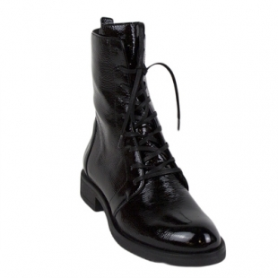 High boots in black with varnish effect Kira17nero