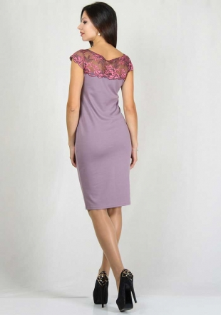 Light pink dress with lace RUMENA