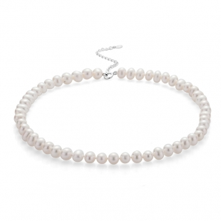 Fresh water pearl necklace 7.5-8mm R04378NW Swan