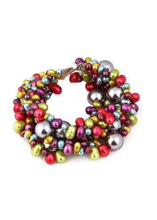 Multicolour Pearl Bracelet 20 cm Cacophony Dannyra Jewels