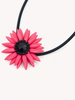 Women's pink necklace Flower F-001