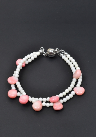 Bracelet 2 rows coral Dannyra Jewels