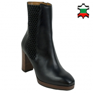 Women's elegant leather boots 32718