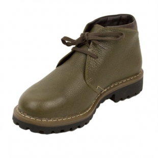 Men's green leather boots Josef Seibel 20576