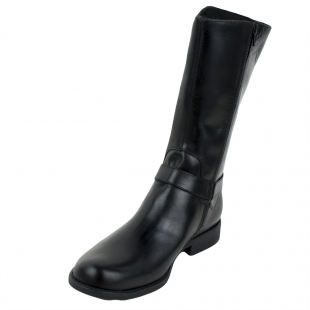 Men's black leather boots 32708