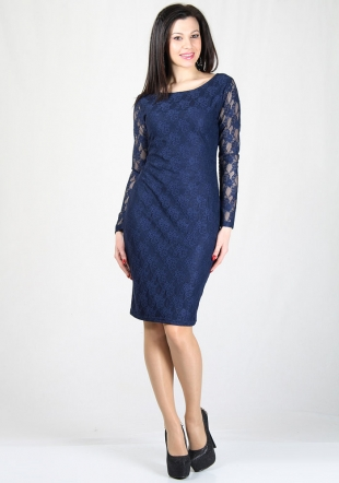 Dark blue pencil dress RUMENA