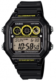 Мъжки часовник Casio AE-1300WH-1AVEF - 10 YEAR BATTERY LIFE