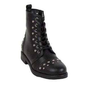 High black boots studded rock style Top94