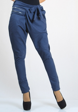 Jeans trousers with zippers Rumena