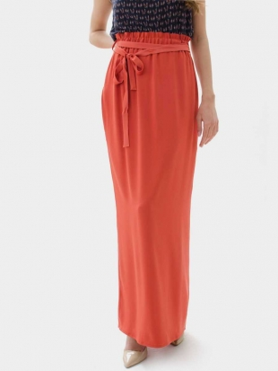 Women's straight skirt color coral 51902-302