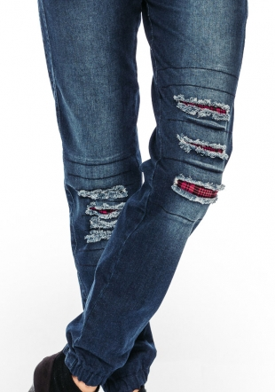 Women's jeans with patches and pockets Avangard