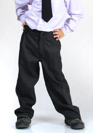 Elegant boys trousers in dark grey or black  RUMENA