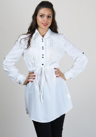 White shirt-tunic RUMENA
