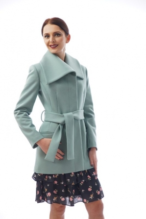 Women's casual coat in blue-green color Radeks