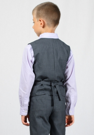 Boys grey vest with slim fit RUMENA